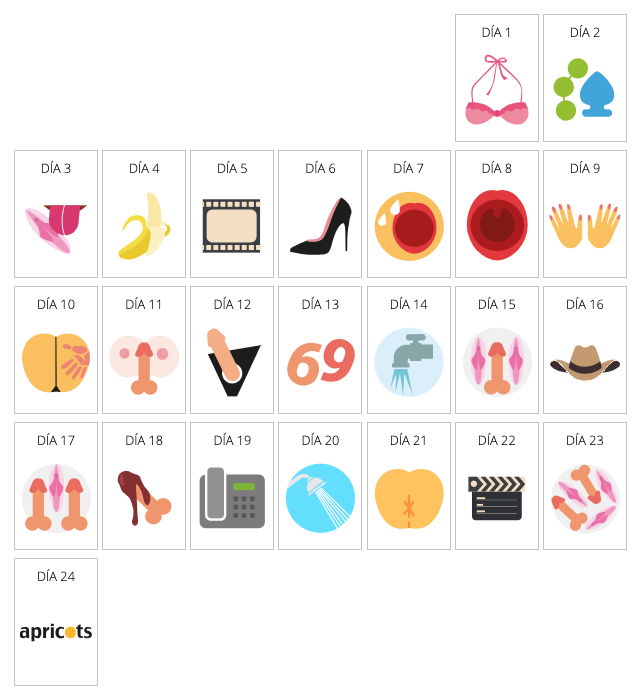 Calendario de adviento de Apricots