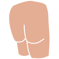 Cul amb forma de V