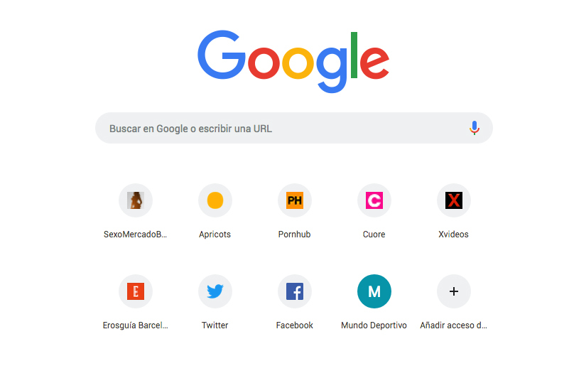 página de inicio de google
