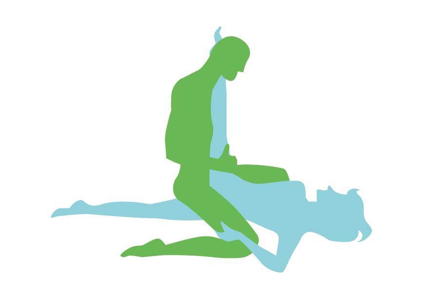 postura sexual que requiere un poco de acrobacia por parte de la mujer