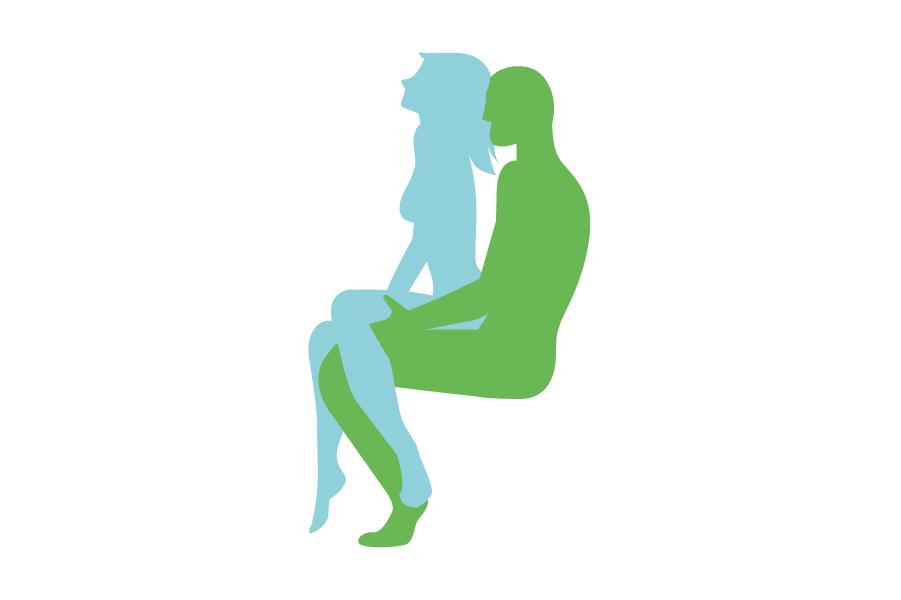 Postura ideal para que ella tenga el control de movimientos sexuales