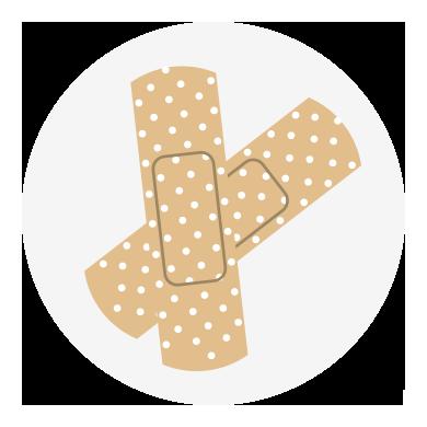 Apósitos y tiritas para el talón del pie